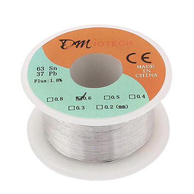 0.6mm 50G 63/37 Tin Lead Roll Solder Core Flux Soldering Wire Reel