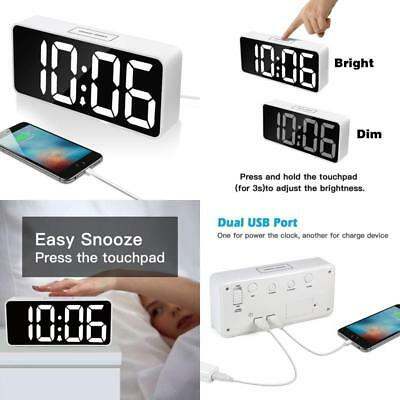 """9"""" Large LED Digital Alarm Clock with USB Port for Phone Charger,"""