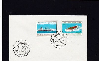 Kuwait 938-39 FDC 1982 SCHIFF SHIP CONTAINER FRACHT BRIEF COVER MIDDLE EAST