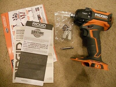 18 v volt Ridgid Gen 5x Stealth Force Pulse Brushless 1/4 Impact Driver R86036