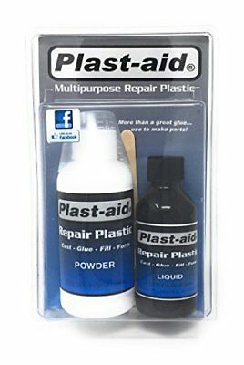 Easy to Use Plastic Pool Part Repair Kit Powder & Solvent Patches PVC Leaks 6oz