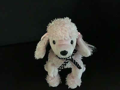 "NEW TY Beanie Baby BRIGITTE THE PINK POODLE DOG 7"" Plush Animal RETIRED"