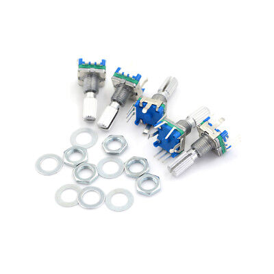 5X EC11 Rotary Encoder Audio Digital Potentiometer 5P with Switch 20mm Handle CL