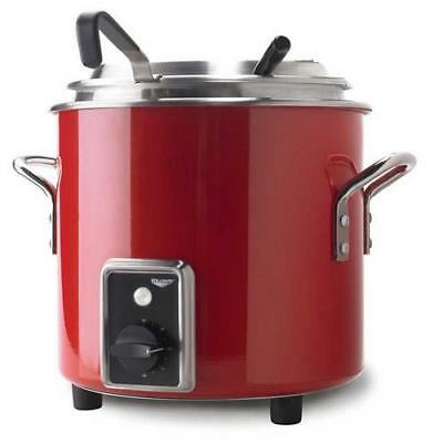 Vollrath - 7217755 - 7 qt Fire Engine Red Stock Pot Kettle Rethermalizer