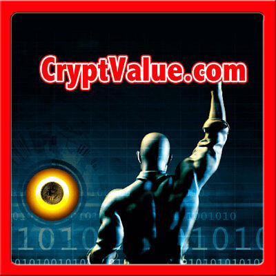 CryptValue.com PREMIUM Crypt/Crypto Currency/Bitcoin Value/Exchange/Trade NAME $