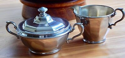 Vintage Manning Bowman Sugar and Cream  Set 3 Pieces Lidded Dish Pat # 691 1935