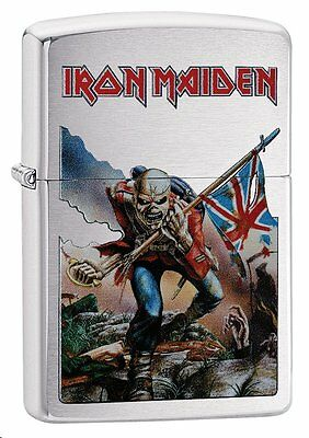 "Zippo ""Iron Maiden"" Brushed Chrome Finish Lighter, ***Flints/Wick***  29432"