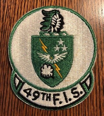 ORIGINAL 1950's/60's US AIR FORCE 49th FIHTER INTERCEPTOR SQUADRON PATCH