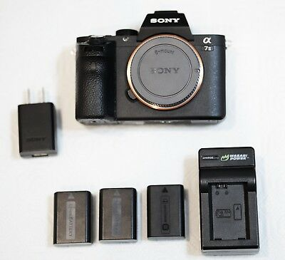 Sony Alpha a7 II 24.3MP Digital Mirrorless Camera with 3 batteries and charger
