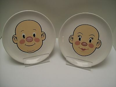 """Lot of 2 Fred Plays with His Food Plates 8 1/4"""" Jason Amendolara Excellent Cond"""
