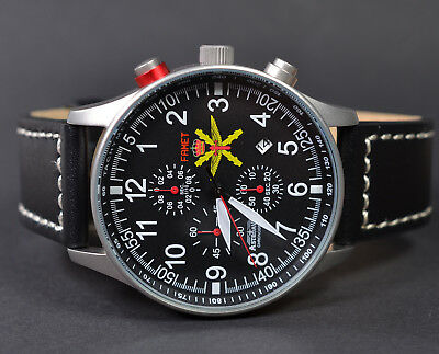 Astroavia Xl Air Craft Military Chronograph Fliegeruhr Famet Spain Edition Fn57S
