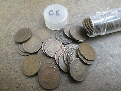 Fifty 1906 Indian Head Small Cents in Good or Better Condition No Reserve