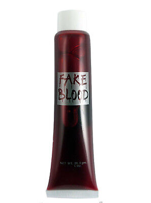 Red Thick Fake Gel Blood Vampire Scary Dracula Halloween Fancy Dress Zombie Tube