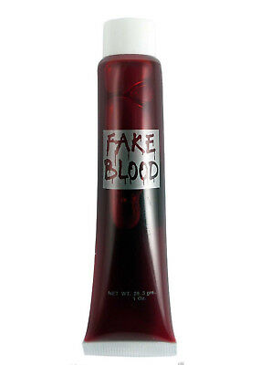 Red Vampire Dracula Halloween Fancy Dress Gel Fake Blood Zombie Scary Party Tube