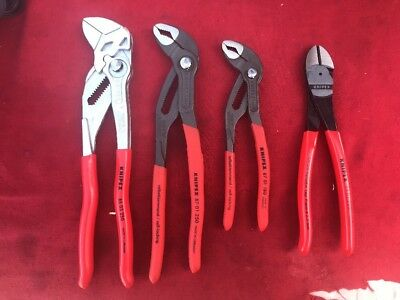 Lot Of Knipex 4 Piece Cobra, Cutter Made In Germany