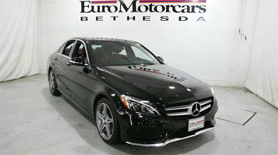 Mercedes-Benz C-Class 4dr Sedan C 300 Sport 4MATIC mercedes benz c300 c 300 4matic sport black red leather 15 16 used navigation