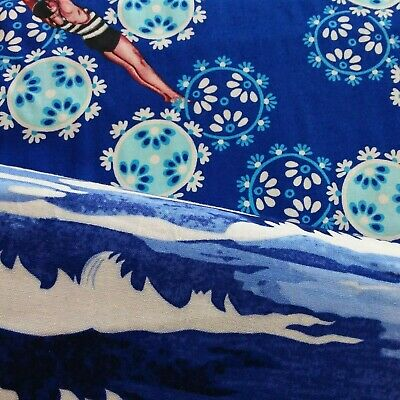 "SALE Kitsch Swimming Navy Cotton Fabric from Tokyo Milk / 99p Sample / 44"" wide"