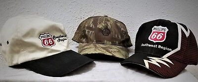 Oil Company Hats Lot- Strapback Adj Size 8 to 9. 2 New, 1 Pre-Owned