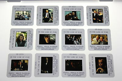 IN THE LINE OF FIRE 12 press kit slides Clint Eastwood Rene Russo John Malkovich