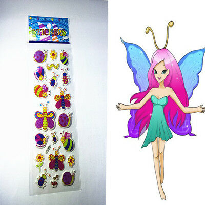 Butterfly Cartoon Stickers Lot Craft Scrapbooking Paper Stick 1pc Kid Party Gift