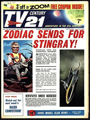Tv Century 21 #22 Fireball Xl5 Stingray The Daleks. Nice Fn+ All Coupons Intact