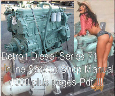 Detroit Diesel Series 71 Inline Service Manual Shop Manual Truck Diesel Engine