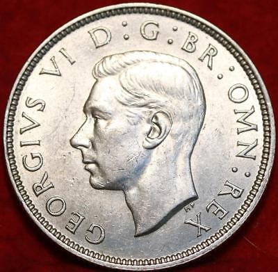 Uncirculated 1939 Great Britain Two Shillings Silver Foreign Coin