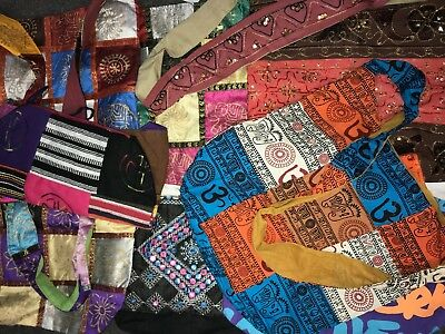 **mixed Hippy Boho Sling  Bags - Brand New - 20 Bags At Cost Price!!!***