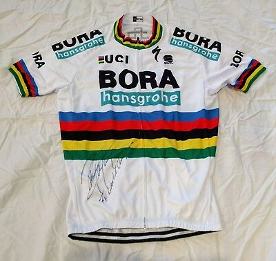 PETER SAGAN signed 2018 World Champ cycling Jersey PROOF Tour De France  Roubaix+ 9d5131348