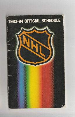 1983-84 NHL Official Schedule Book SUPER COOL! READ