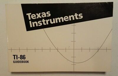 Texas Instruments, TI-86 Guide Book, owners manual for Graphing Calculator