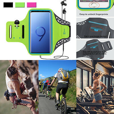 For Samsung Galaxy S8 S9 Plus Note 8 Sport Armband Running Gym Case Cover Holder