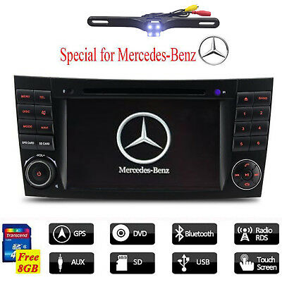 2Din For Mercedes Benz E-Class W211 CLS W219 CLS350 Car DVD GPS Stereo Radio USB
