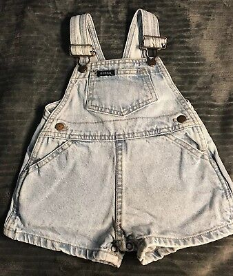 Vintage Guess Overalls Jean Shorts Baby Kids 18 months