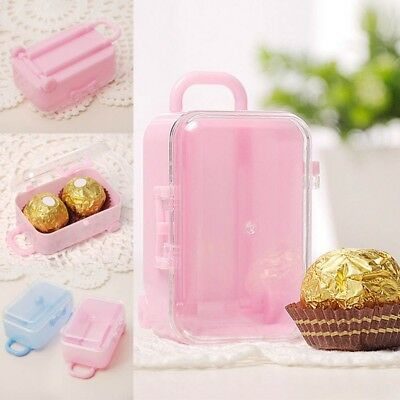 Mini Rolling Travel Suitcase Box Wedding Favors Party Reception Candy Toy Sales