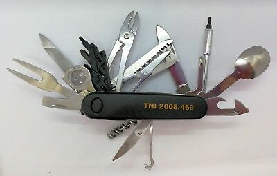 2008 Issue Pindad Indonesia TNI Military Swiss Army Style Multi Blade Knife New