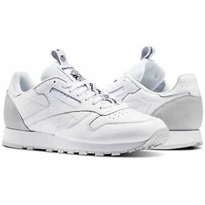 95d641db8c3 REEBOK MEN S SHOES Classic Leather IT White Skull Grey Black BS6209 ...