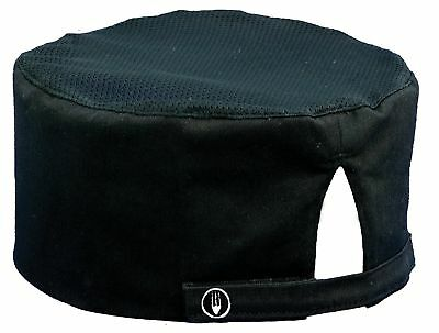 Chef Works Cool Vent Skull Cap Beanie Black One Size New