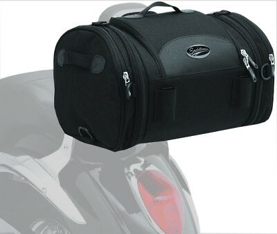 Saddlemen R1300LXE Deluxe Expandable Roll Bag Luggage Universal Black 3515-0075
