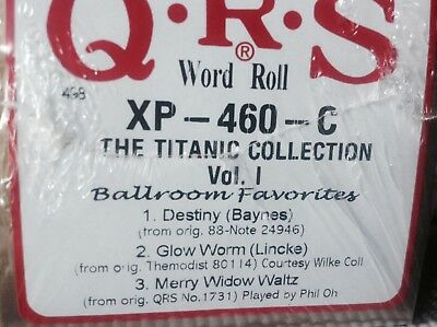 TITANIC COLLECTION Ballroom 3 Selections    BRAND NEW LONG PLAY PIANOLA  ROLL