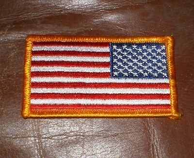 2 Piece Lot Velcro US Military Issue American Flag Uniform Patch Reversed NEW