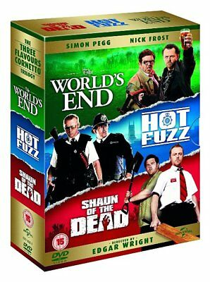 The World's End + Hot Fuzz + Shaun of the Dead Worlds Blu-ray Region B New