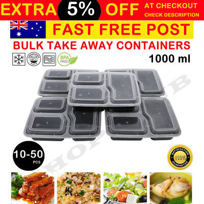10-50 pcs Freezer Microwavable Meal Prep Food Storage Containers Takeway Box