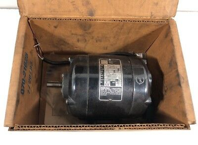 Bodine NSH-34 Electric Motor; 1725 RPM, 115V, 0.75 A, 1.15 hp