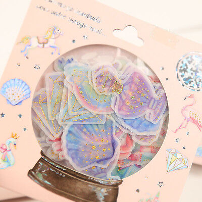 48pcs Crystal Ball Cat Candy Stickers Kawaii Stationery DIY Scrapbooking Sticker