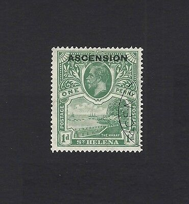 Ascension 1922 1d overprint on St Helena very fine used SG 2