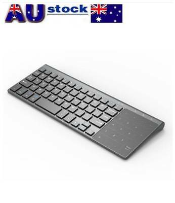 Small 2.4Ghz Wireless Keyboard Touchpad Computer External Smart TV Remote Keypad
