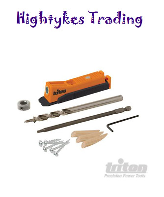 Triton TWSMPJ Single Pocket-Hole Jig Wood Joinery Kit Woodwork Joint Carpentry
