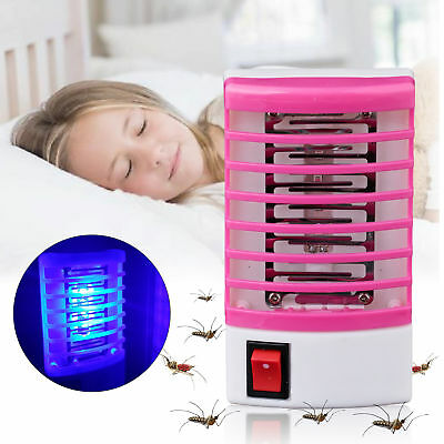 Mini LED Socket Electric Mosquito Fly Bug Insect Trap Night Lamp Killer Zapper