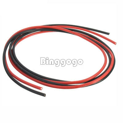 14 AWG Gauge Wire Flexible Silicone Stranded Copper Cables For RC Black Red NEU